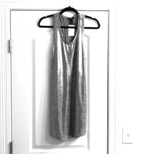 H&M silver metallic dress NWT size small